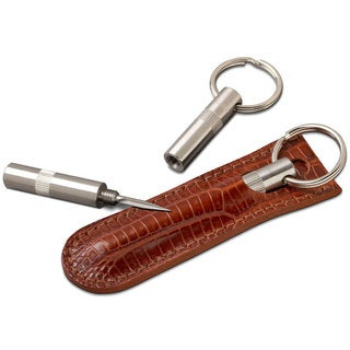 Brizard & Co Trilogy Cigar Punch with Lizard Havana Leather Pouch