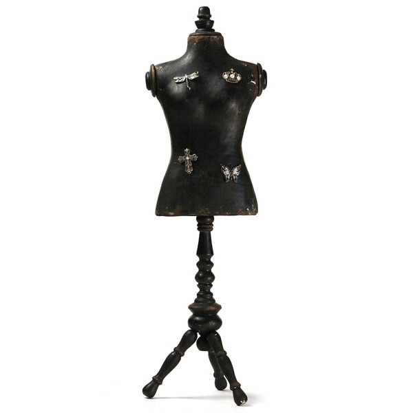 Black Wooden Dress Form