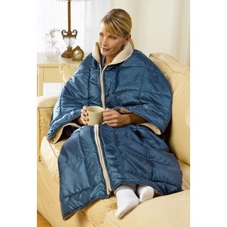 My Cozy Couch Blanket Wrap 3-in-1 Lounging Blanket Wrap with Arm Sleeves
