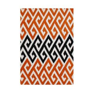 Alliyah Handmade Cloud Cream New Zealand Blend Wool Rug (5' x 8')
