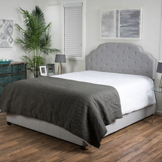 Christopher Knight Home Allyson Button Tufted Fabric Bed Set
