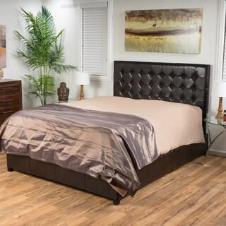 Christopher Knight Home Austin Tufted Bonded Leather Platform Bed Set