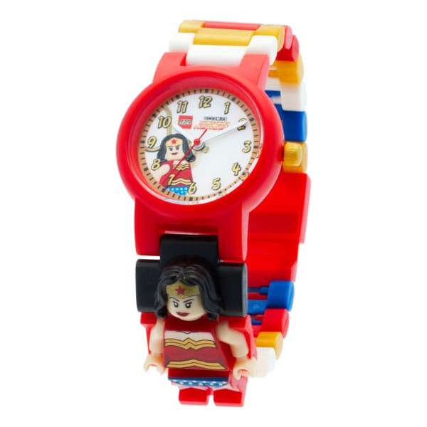 LEGO DC Super Heroes 'Wonder Woman' Kid's Minifigure Interchangeable Links Watch