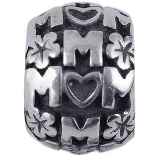 Sterling Silver 'Mom' Charm Bead