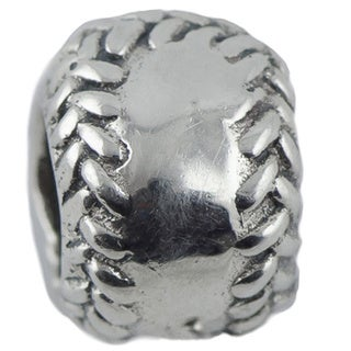 Sterling Silver Baseball Charm Bead