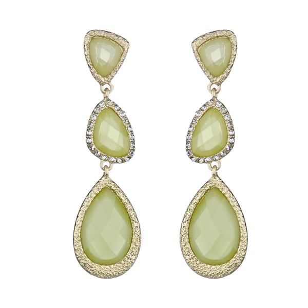 Lime Green Triple Drop Earrings