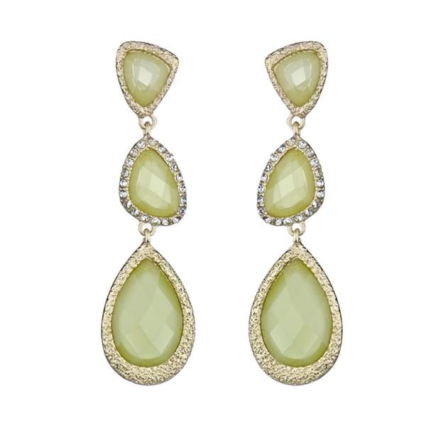 Lime Green Triple Drop Earrings
