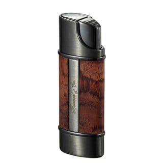 Brizard & Co Exotic Bubinga Wood Nano Single Torch Lighter