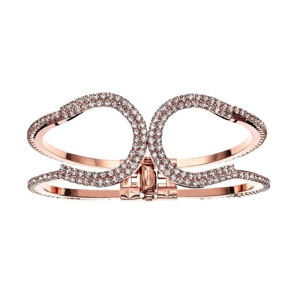 Isla Simone - Horse Shoe Crystals Cuff Bracelet