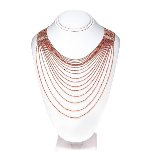 Isla Simone - Long Open Circle Crystal Necklace