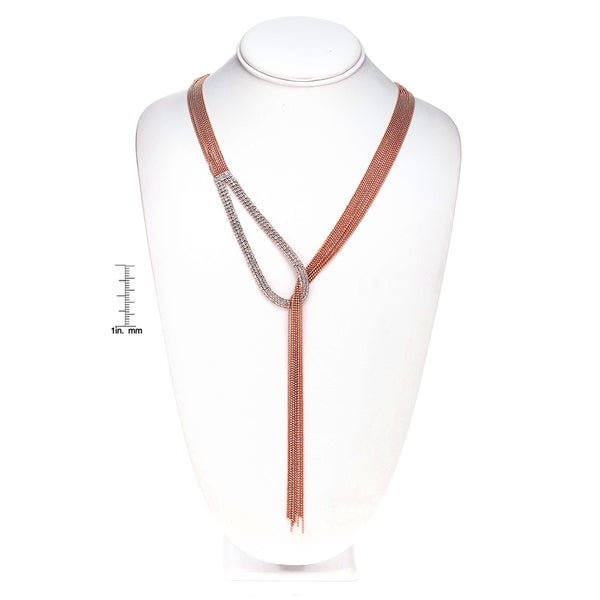 Isla Simone - Tear Drop Drape Crystal Necklace