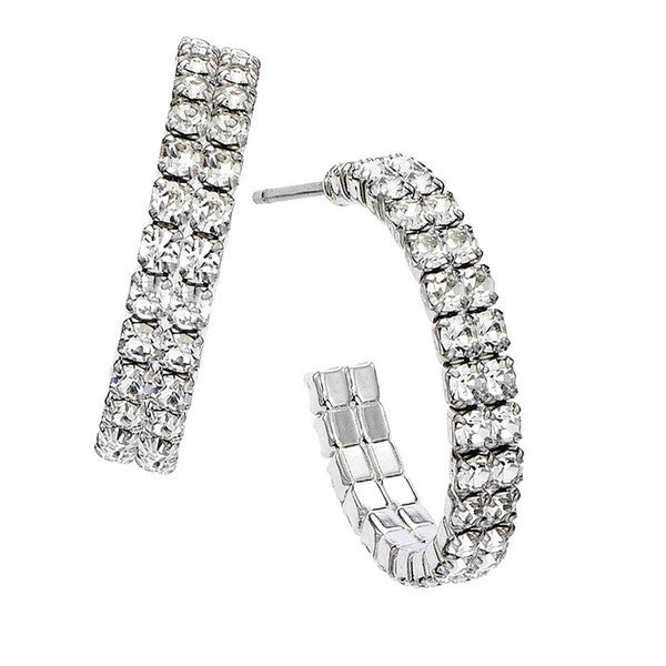 Isla Simone - Double Row 20mm Hoop Earring