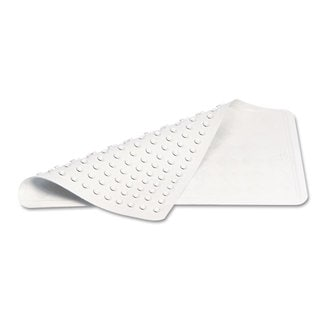 Rubbermaid Commercial White Safti-Grip Latex-Free Vinyl Bath Mat (Pack of 4)