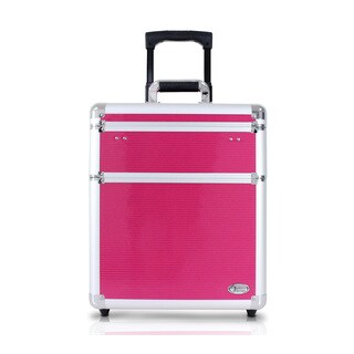 Jacki Design 17-inch Rolling Carry-on Aluminum Makeup Suitcase