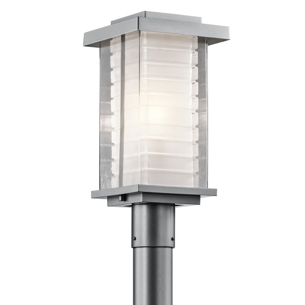 Kichler Lighting Ascari Collection 1-light Platinum Outdoor Post Lantern