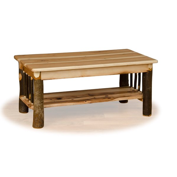 Rustic Hickory & Oak Coffee Table- Amish Made USA