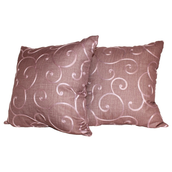 Bloom Decorative Violet Throw Pillows (Set of 2)