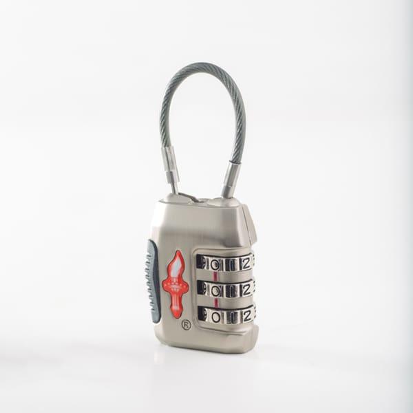 Safe Skies Silver 3-Dial TSA Cable Lock