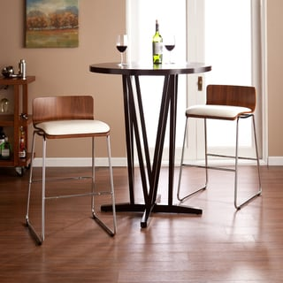 Upton Home Colby Walnut/ White Stools