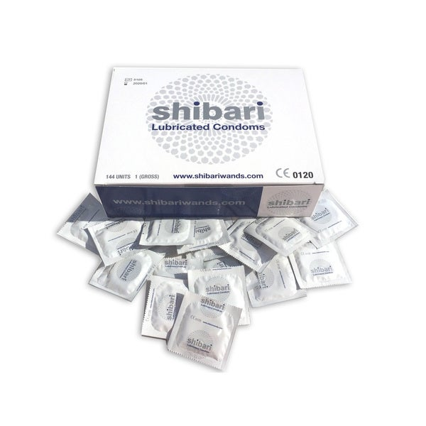 Shibari 144-Count Lubricated Latex Condoms