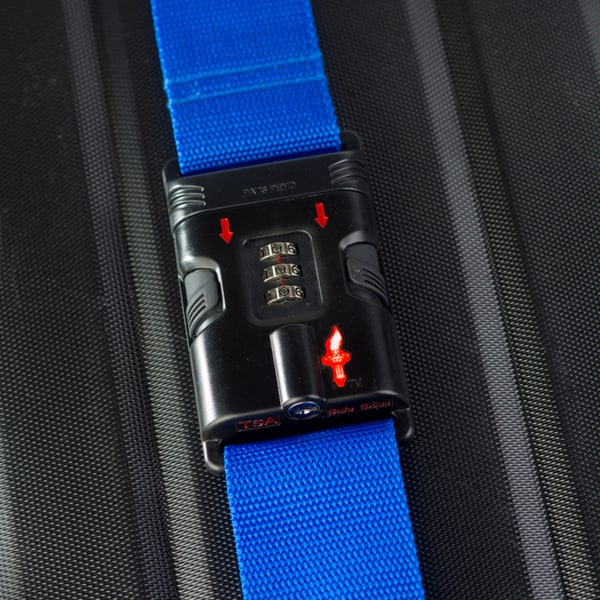 Safe Skies Blue TSA-Approved Luggage Strap