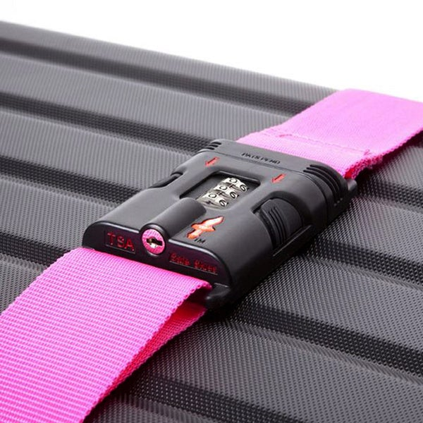 Safe Skies Pink TSA-Approved Luggage Strap