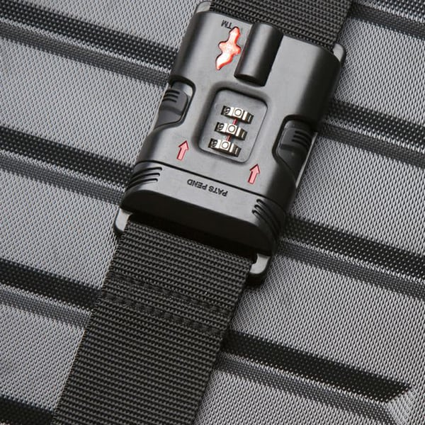 Safe Skies Black TSA-Approved Luggage Strap