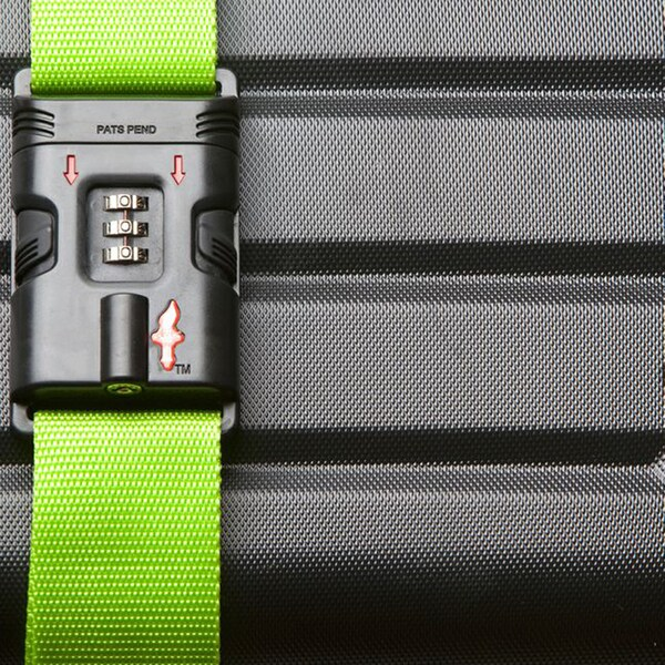 Safe Skies Green TSA-Approved Luggage Strap