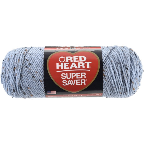 Red Heart Super Saver YarnSpa Blue Fleck