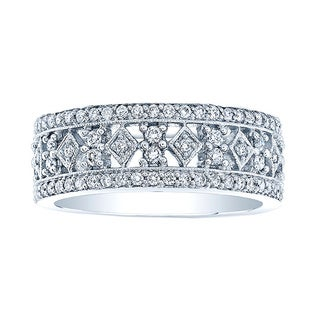 18k White Gold 1 1/8ctTDW Diamond Band (H-I, VS1-VS2) Size 7