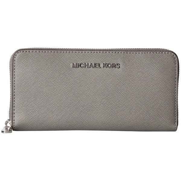 MICHAEL Michael Kors Travel Zip Around Continental Wallet Steel Grey