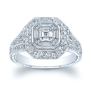 18k White Gold 1.45ct TDW Diamond Ring (H-I, VS1- VS2) Size 7