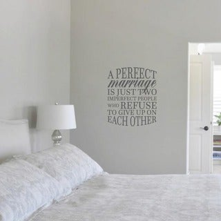 """A Perfect Marriage Quote Wall Decal - (20"""" x 24"""" )"""