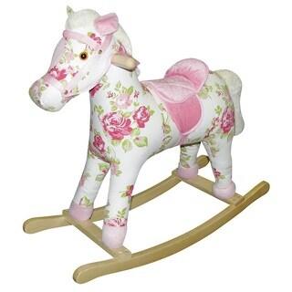 Charm Co 'Rosie' Plush Rocking Horse