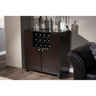Murano Modern and Contemporary Dark Brown Wood Modern Dry Bar and Wine Cabinet