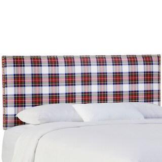 Skyline Furniture Nail Button Headboard in Stewart Dress Multi
