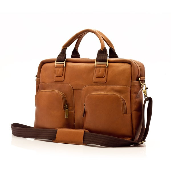 "Muiska Vaquetta Leather Cairo 16.5"" Laptop Messenger Bag"