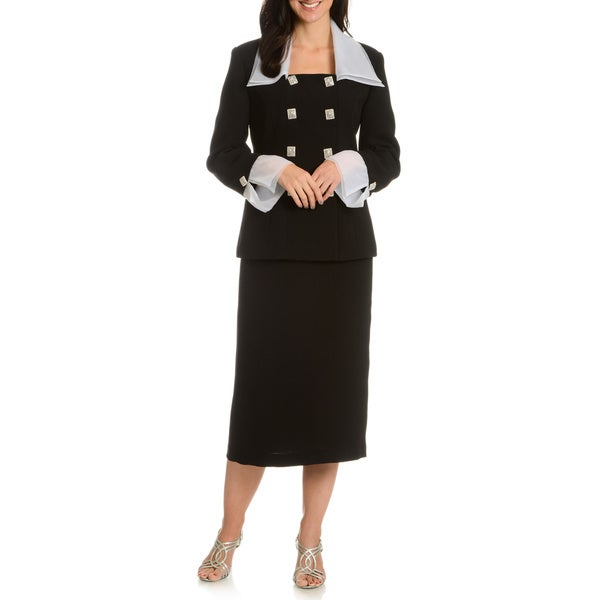 Ella Belle Women's Double Breasted 2-Piece Suit