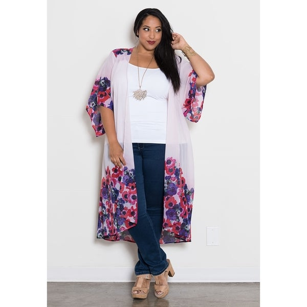 Sealed with a Kiss Women's Plus Size 'Bianca' Chiffon Duster