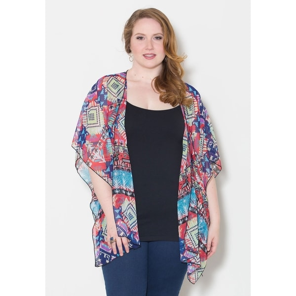 Sealed with a Kiss Women's Plus Size 'Suzie' Chiffon Poncho
