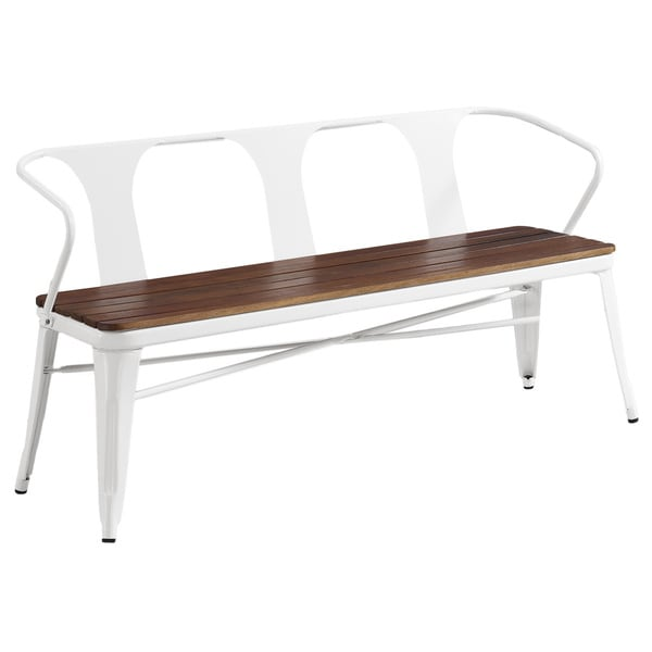 Jardin White Outdoor Bench