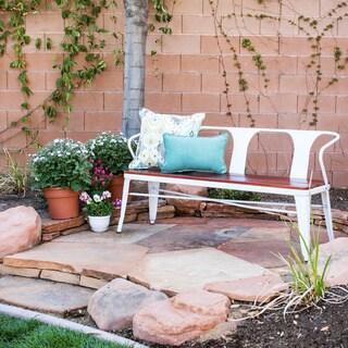 Jardin White Outdoor Bench
