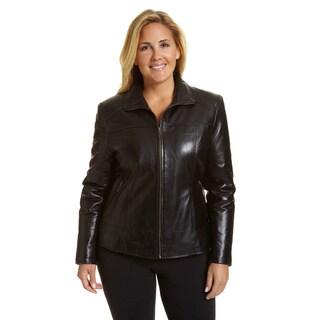 Excelled Women's Plus Lambskin Scuba with Zip Pockets