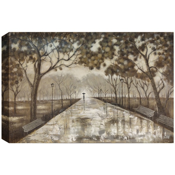 Hobbitholeco. 'Walk In The Park Oil' 60 x 40-inch Oil Wall Art 16373030