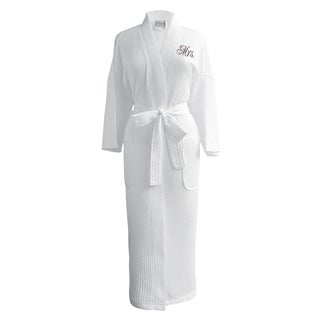 "Conrad Egyptian Cotton ""Mrs."" Waffle Spa Robe"