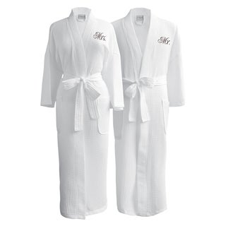 Conrad Egyptian Cotton Mr. & Mrs. Waffle Spa Robe Set