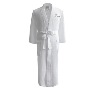 Conrad Egyptian Cotton Groom Waffle Spa Robe