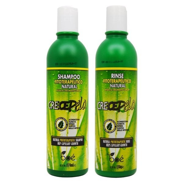 BOE Crece Pelo Fitoterapeutico Natural Shampoo and Rinse Duo Set