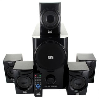 Acoustic Audio AA5160 5.1-channel 500-watt Home Theater Speaker System with Powered Subwoofer