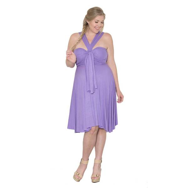 Sealed with a Kiss Women's Plus Size 'Eternity' Convertible Dress Sky Blue 1x-3x Only (As Is Item)